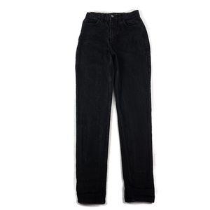American Apparel High Waist Mom Jeans Straight Leg